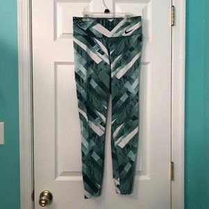 Nike Dri-Fit Teal Patterned Leggings